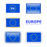 Variety of eu flags Stock Photos