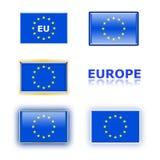 Variety of eu flags stock photos