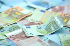 Variety of euro banknotes Stock Photography