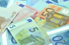 Variety of euro banknotes Royalty Free Stock Photography