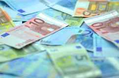 Variety of euro banknotes Royalty Free Stock Photos