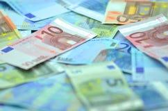 Variety of euro banknotes Royalty Free Stock Photos