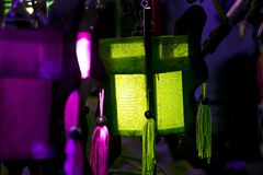 A variety of evening lanterns. Hoian City. 2018 soon new year Asian. a lot of different lanterns, different colors and sizes Royalty Free Stock Photo