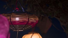 A variety of evening lanterns. Hoian City. 2018 soon new year Asian. a lot of different lanterns, different colors and sizes royalty free stock images