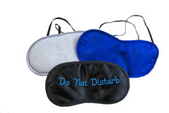 Variety of eye masks for resting Royalty Free Stock Image