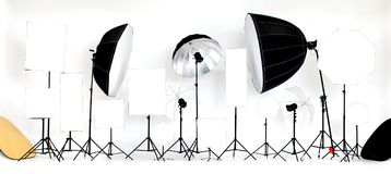 A variety of flash studio lights and sizes are available on wh stock images