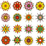Variety of flower designs. Vector illustration Royalty Free Stock Image
