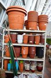 Variety of Flowerpots Royalty Free Stock Photo