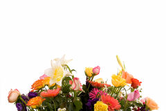 Variety of flowers. Big colorful bouquet over white Stock Photo