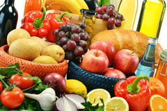 Variety of food products Stock Image