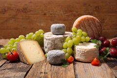 Variety of french cheese Royalty Free Stock Images