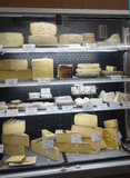Variety of French cheeses Stock Image