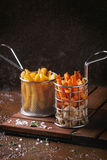 Variety of french fries Stock Images