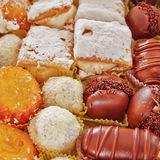 Variety of french pastry sweets Royalty Free Stock Photography
