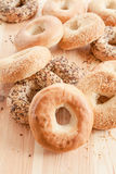 Variety of fresh bagels Stock Photos
