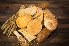 Variety of fresh bread and pastry Royalty Free Stock Photos