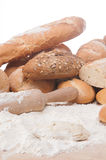Variety of fresh bread and rolls Stock Photo