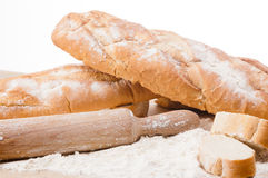 Variety of fresh bread and rolls Stock Photography