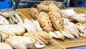 Variety of fresh breads from pastry. Stock Image