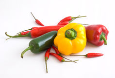 Variety of Fresh Chillies Royalty Free Stock Image
