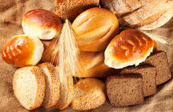 A variety of fresh fragrant pastries Royalty Free Stock Photography