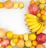 Variety of fresh fruits Stock Photo