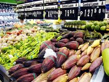 A variety fresh fruits and vegetables Royalty Free Stock Images