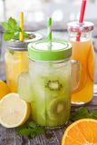 Variety of fresh juices Stock Images