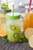Variety of fresh juices Stock Photography
