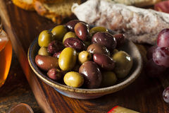 Variety of Fresh Organic Olives Royalty Free Stock Photo