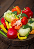 Variety of fresh organic peppers Royalty Free Stock Photo