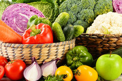 Variety of fresh organic vegetables Stock Photography
