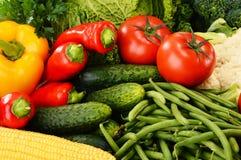 Variety of fresh organic vegetables. Detox diet Stock Photography