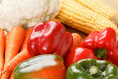 Variety of fresh raw organic vegetables. Variety of fresh clean raw organic vegetables Royalty Free Stock Images