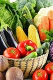 Variety of fresh raw organic vegetables. Composition with variety of fresh raw organic vegetables Stock Photos