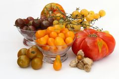 Variety of fresh tomatoes grown in organic orchards. In Andalusia, Spain Royalty Free Stock Image