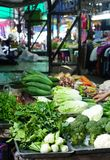 Variety of fresh vegetable at the vegetable stall in fresh marke Stock Photo