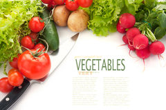 Variety of fresh vegetables Stock Image