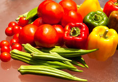 Variety of Fresh Vegetables. An assortment of colorful fresh vegetables from the garden Stock Image