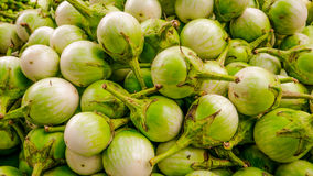 Variety of fresh vegetables in local market. Royalty Free Stock Images