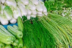 Variety of fresh vegetables in market Royalty Free Stock Photos