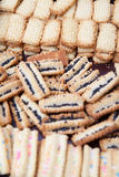 Variety of freshly baked cookies cooling off Stock Photography