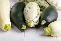 Summer squash zucchini patisson royalty free stock photo