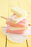 Variety of frozen popsicles Royalty Free Stock Photography