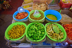Variety of Fruit pickles sold in Pulau Penang Royalty Free Stock Images