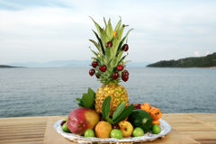 Variety of fruits Stock Photos