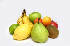 Variety of fruits. On pale backgound Stock Photo