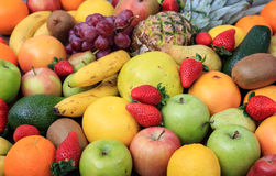 Variety of fruits background Stock Image