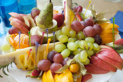 Variety of fruits on a banquet Stock Photography