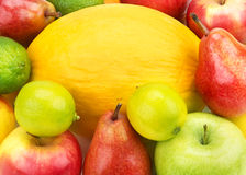 Variety of fruits Stock Images